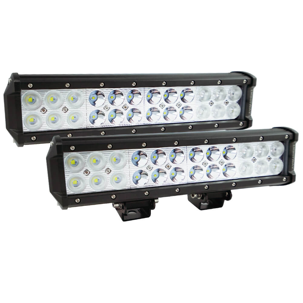 Pair 12inch CREE LED Light Bar Spot Flood Off Road Work Driving Lamp 9""