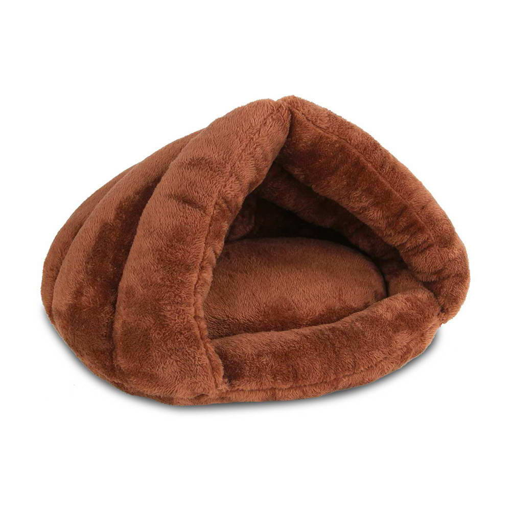 i.Pet Washable Cave Pet Bed - Brown
