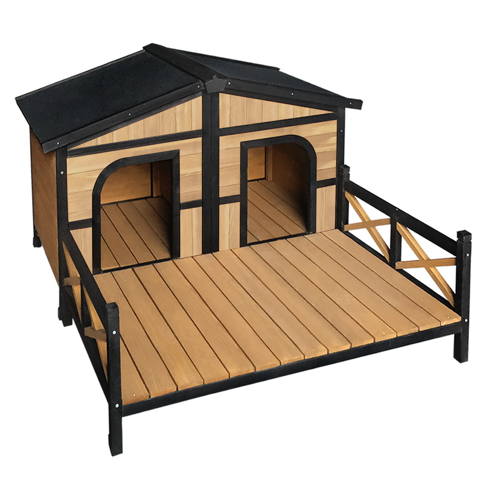 i.Pet Extra Extra Large Wooden Pet Kennel