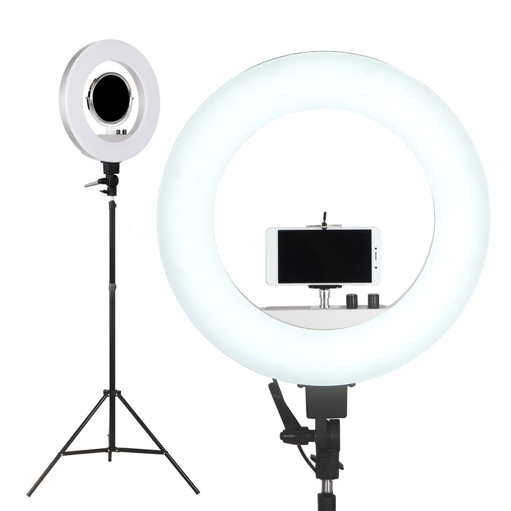 "Embellir 19"""" 5600K LED Ring Light With Stand Dimmable Diva For Phone Camera DSLR"