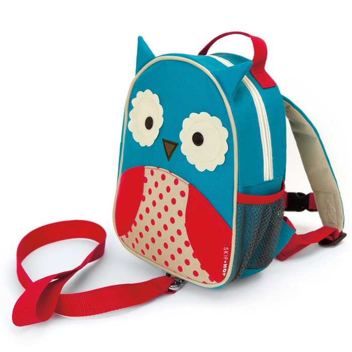 Skip Hop Zoo Toddler Backpack with Rein Owl