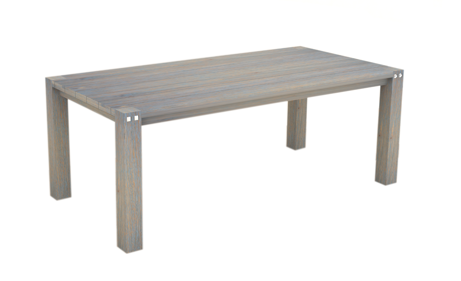 Sturdy 2 Metre Table Grey Brush Finish