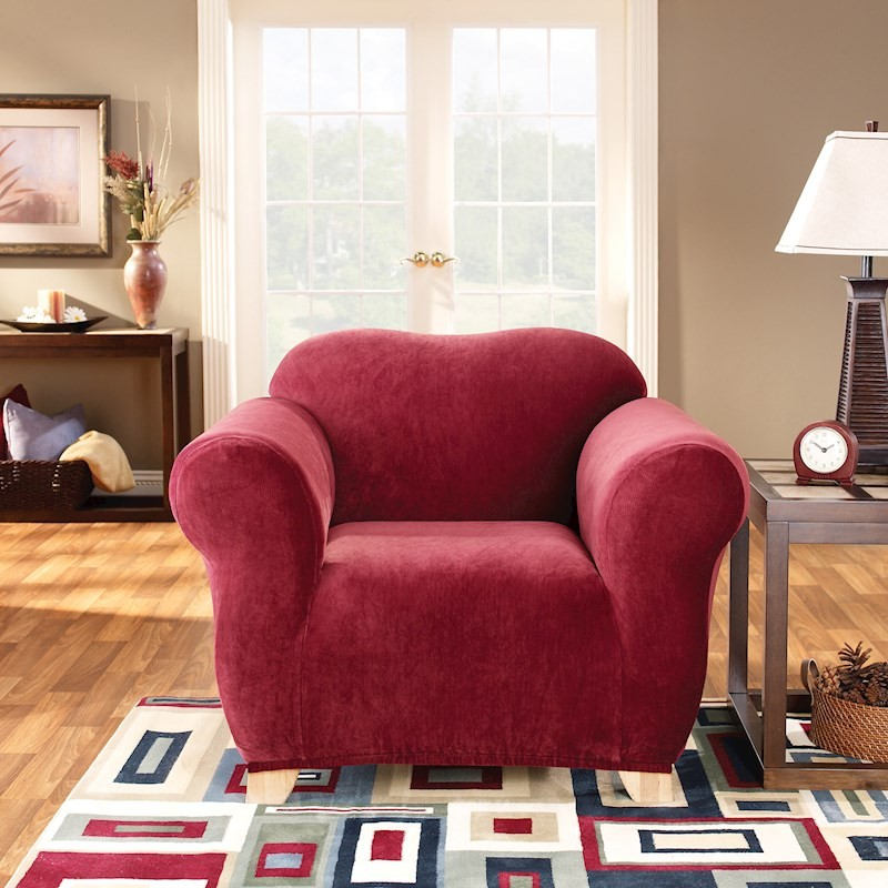 Sure Fit Pearson 1 Seater Red Sofa Cover