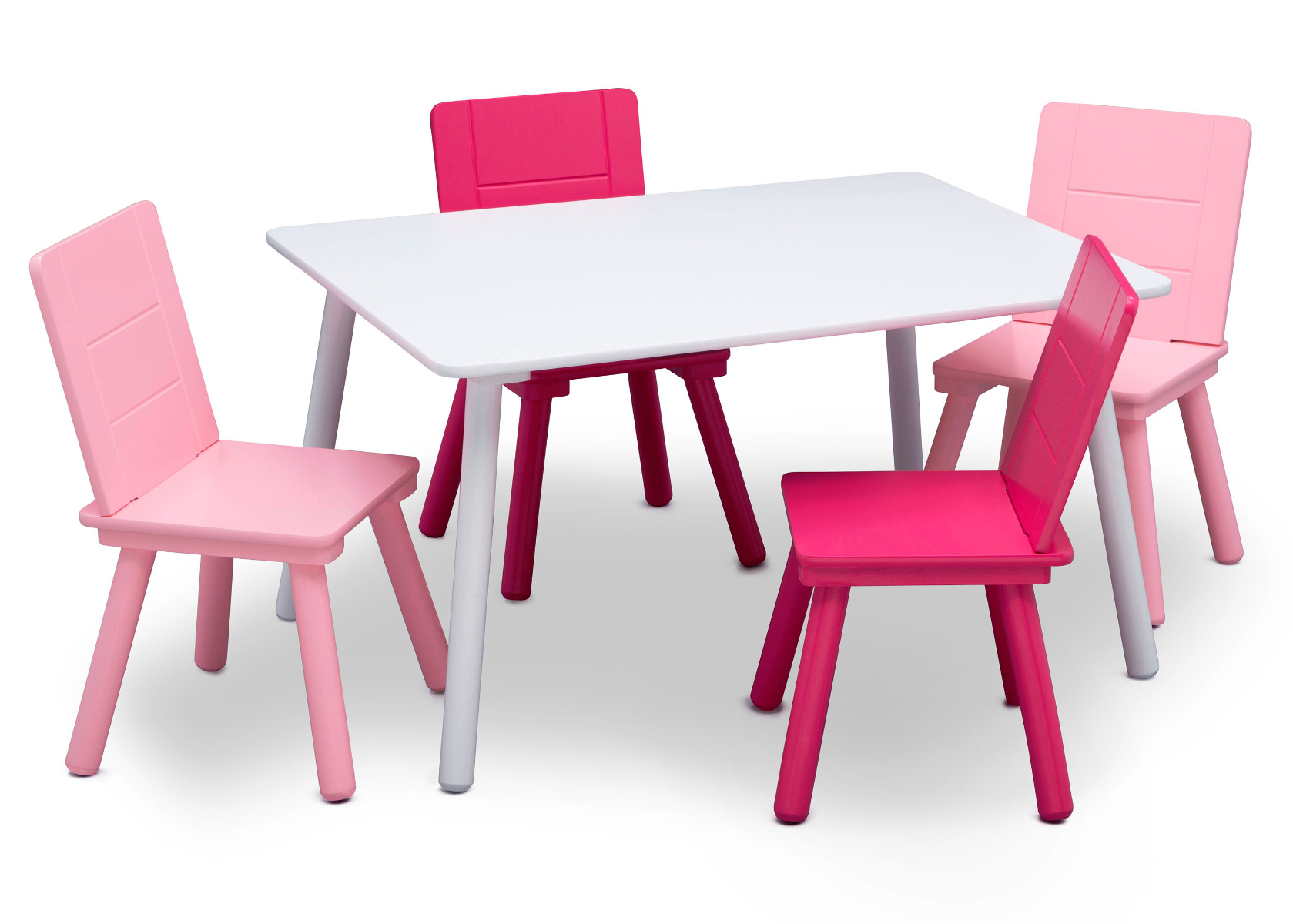 Table And Chairs - Pink