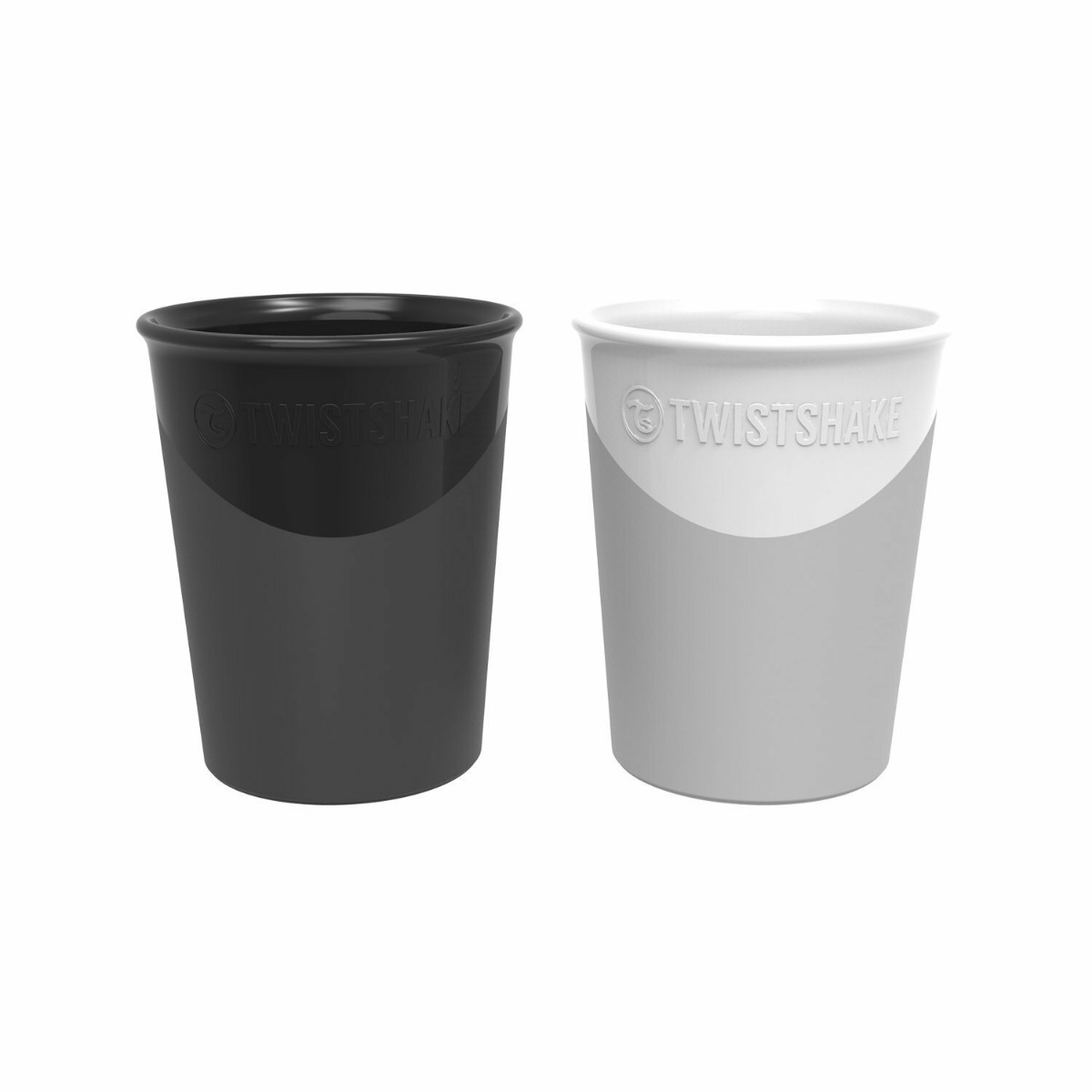 Twistshake 2x Cup 170ml 6+m Black White