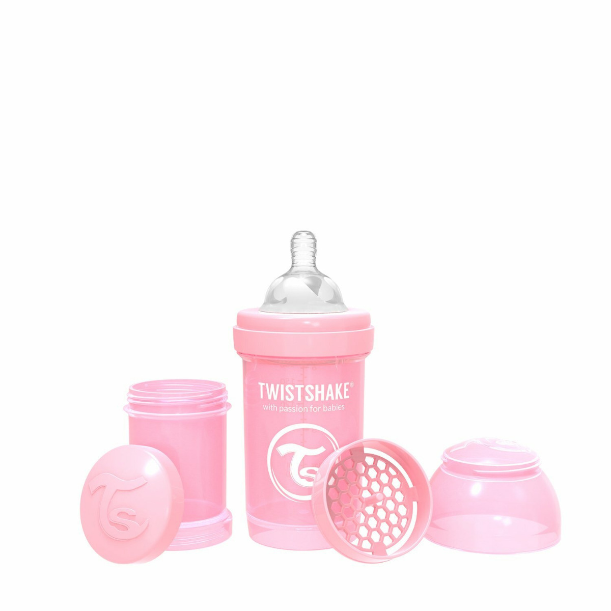 Twistshake Anti-Colic 180ml Pastel Pink