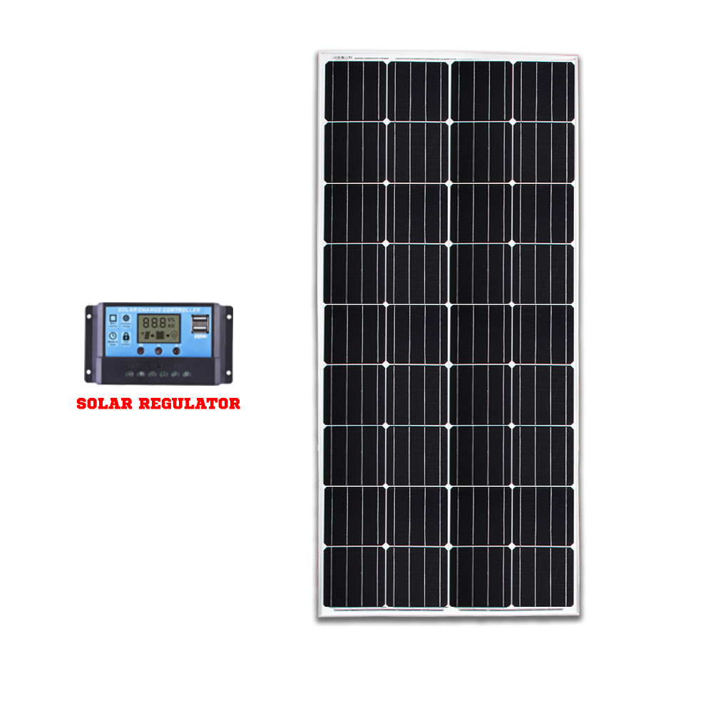 200W 12V Mono Solar Panel Kit Caravan Camping Power Battery Charging Home
