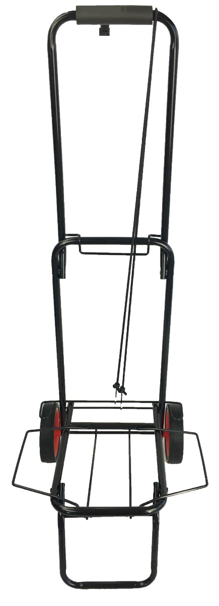 Foldable metal trolley