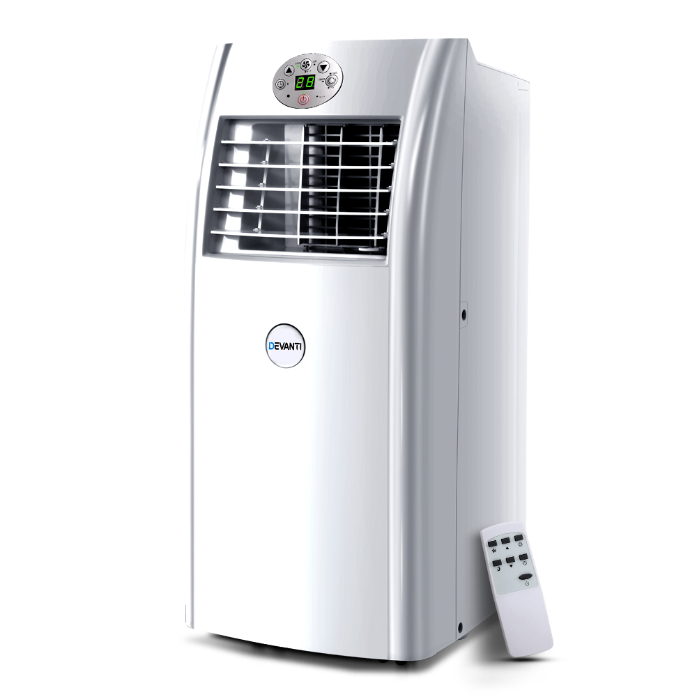 Devanti Portable Air Conditioner 4-In-1 Mobile Fan Cooler Dehumidifier 18000BTU