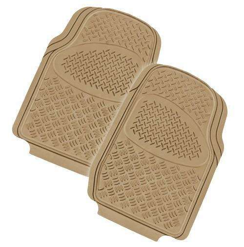 VELOCITY 2-Piece Car Mat - MOCHA [Rubber]