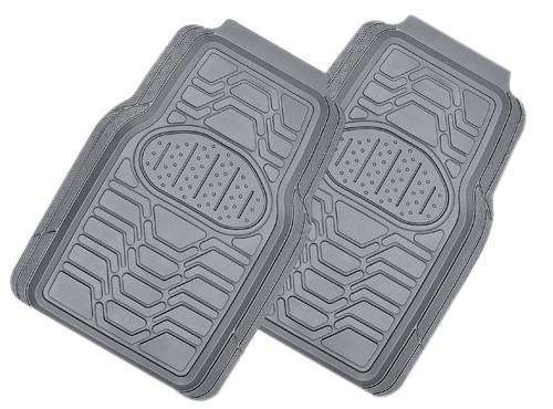 VIPER 2-Piece Car Mat - GREY [Rubber]