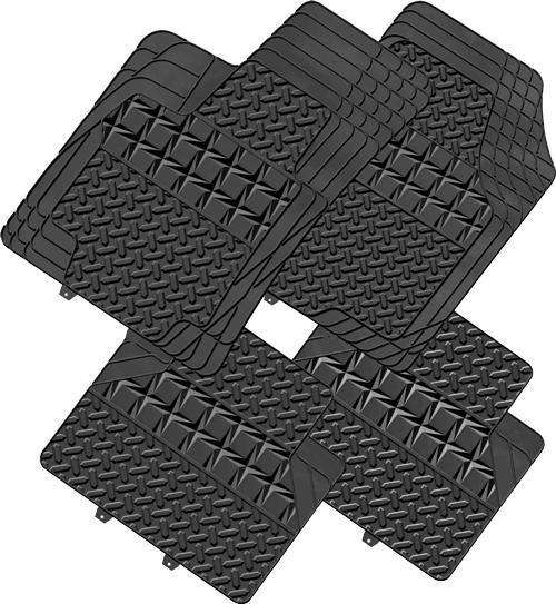 AMOS 4-Piece Car Mat - BLACK [Rubber]