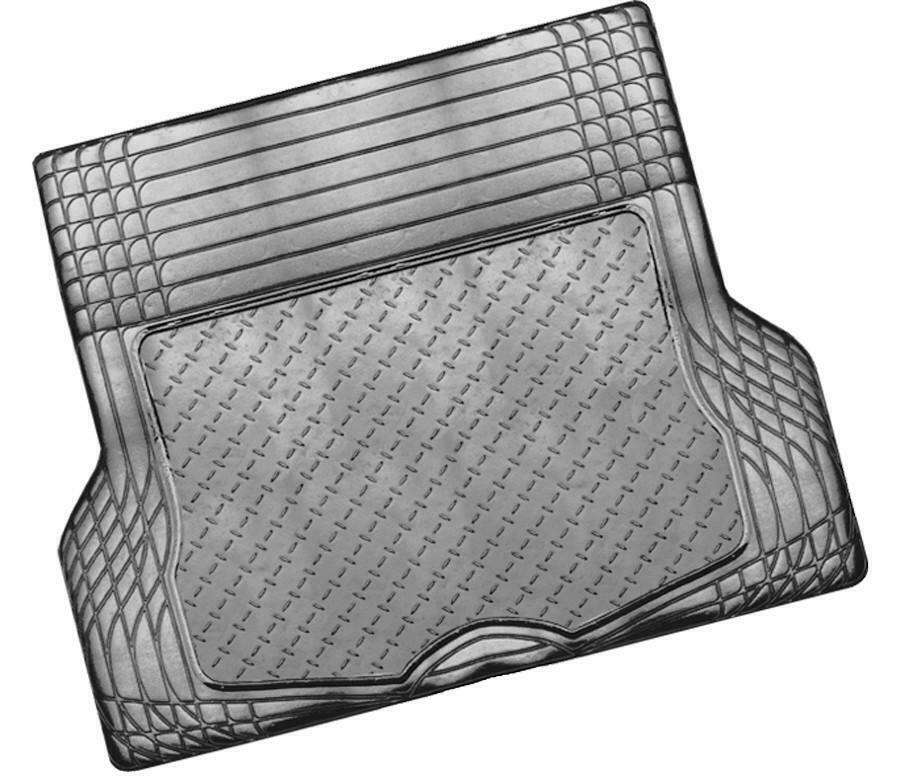 ALUMINIUM LOOK 1-Piece Boot Mat - CARBON [Rubber/Aluminium Look]