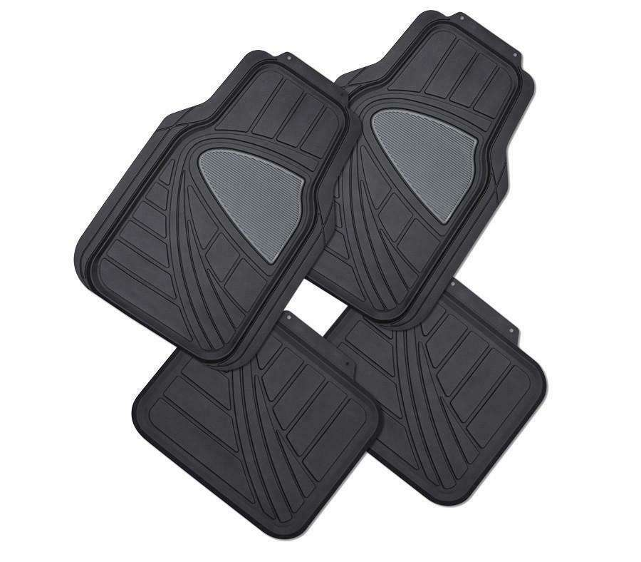 GALAXY 4-Piece Car Mat - BLACK [Rubber]