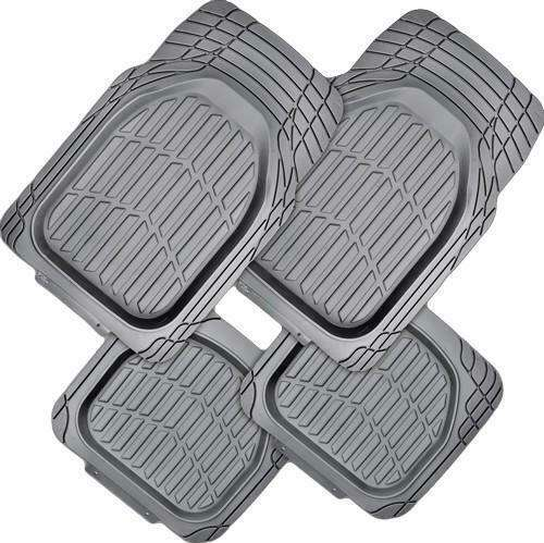 MYSTIC 4-Piece Car Mat - GREY [Rubber]