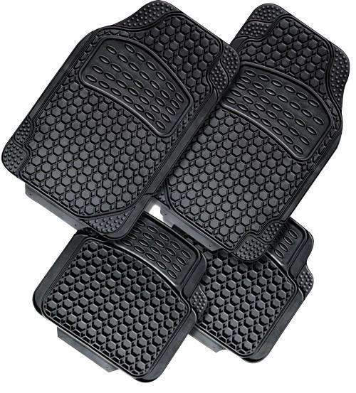 NOVA 4-Piece Car Mat - BLACK [Rubber]