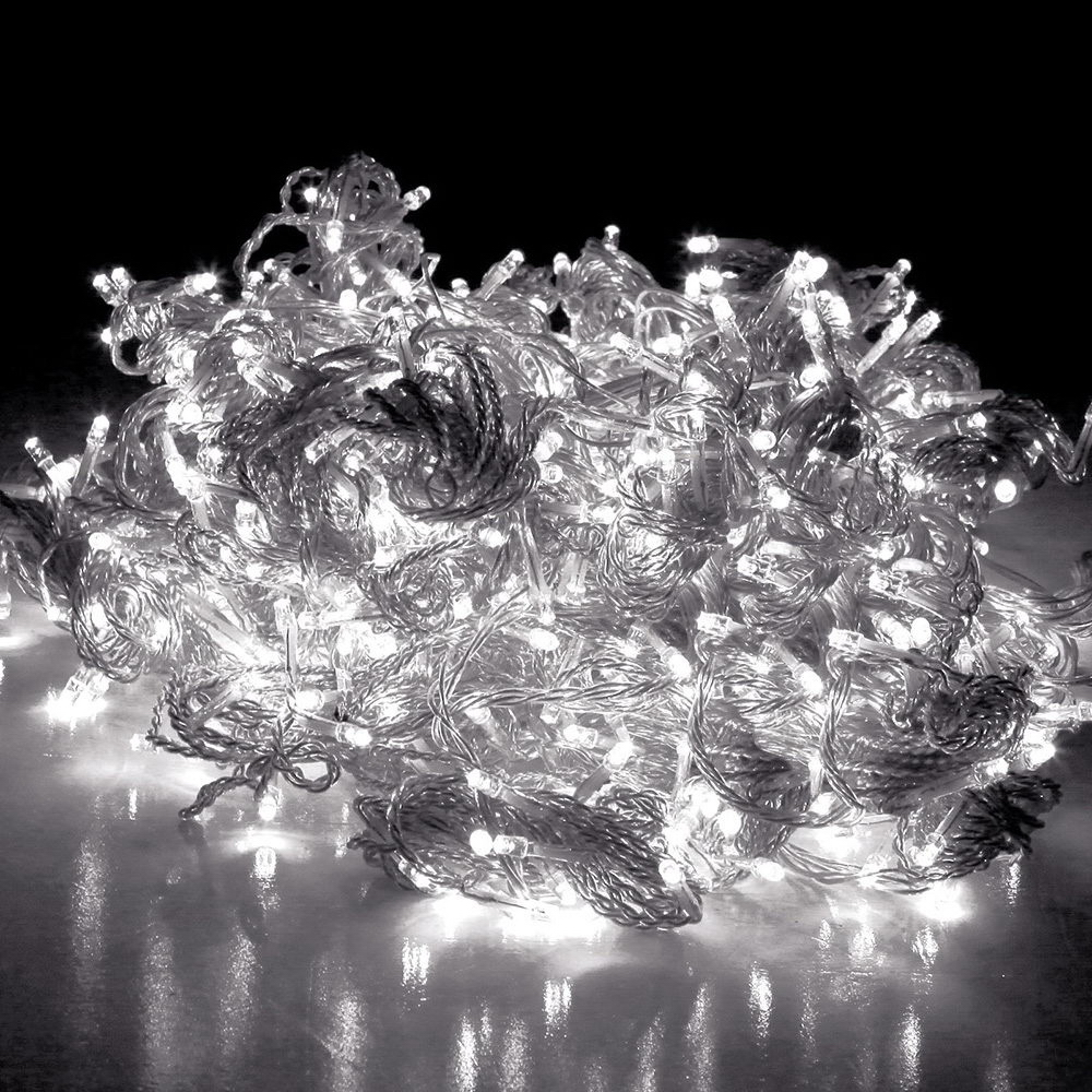 Jingle Jollys 3X3M Christmas Curtain Fairy Lights String 300LED Party Wedding Home White