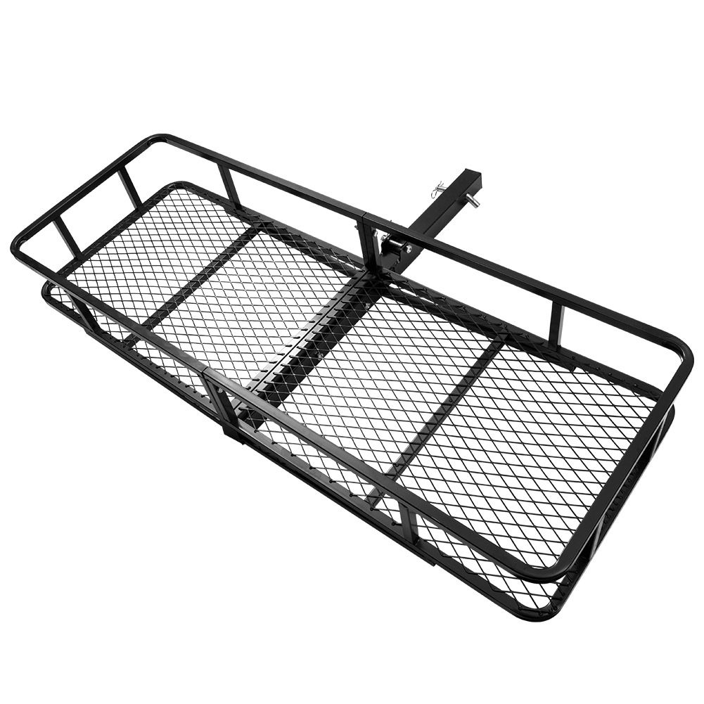Cargo Carrier Luggage Basket Car Rack Foldable Hitch Mount Steel Mesh 4WD