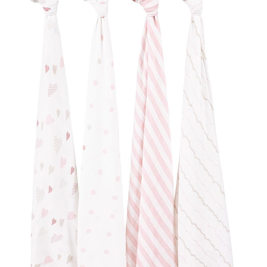 Heart Breaker 4 Pack Swaddle by Aden and Anais